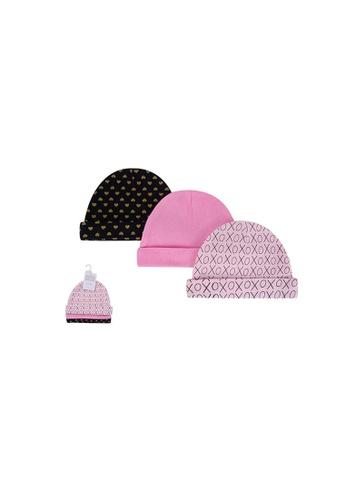 Little Kooma pink Baby Hats 3 Piece Pack 0-6 months 52305CH - 0805 486D3KC0D50668GS_1
