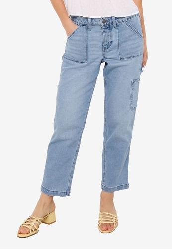 Hollister blue Low Rise Boyfriend Jeans 33E9FAA98CAF73GS_1