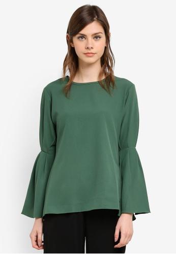 Wafiyya by Dollscarf green Lily Blouse WA375AA0S75IMY_1