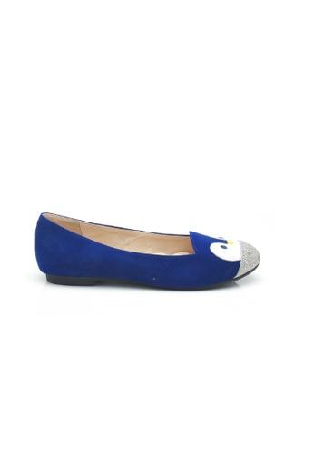 Elisa Litz blue Penguin Flats (Blue) 490EASHAE9A6EBGS_1