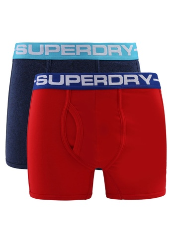 Superdry red and blue Sport Boxesr Double Pack D46C8USD4D9072GS_1
