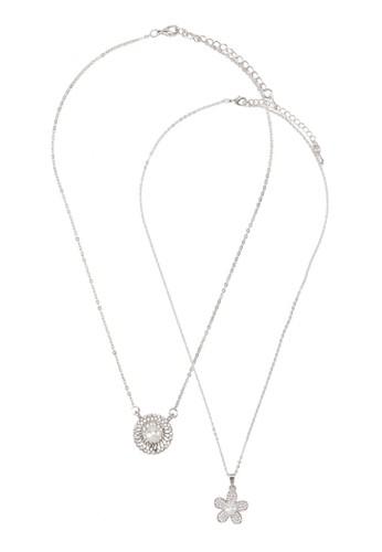 兩入珍珠墜飾項鍊, 飾品配件, 項esprit服飾鍊