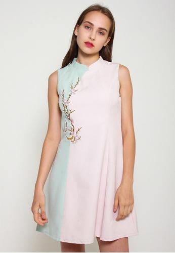 Leline Style blue Elaina Pastel Cheongsam Dress 62EEBAAF9657F6GS_1
