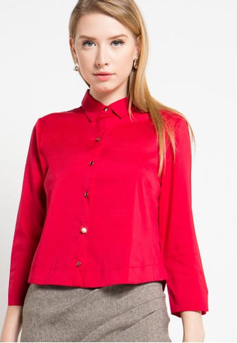 Raspberry red Sivia Shirt Blouse RA572AA05ALIID_1