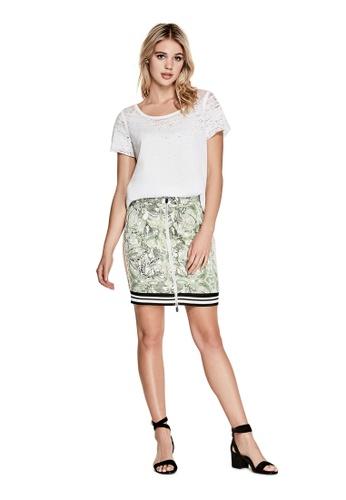 Guess green Reese Skirt GU020AA0GMXMSG_1