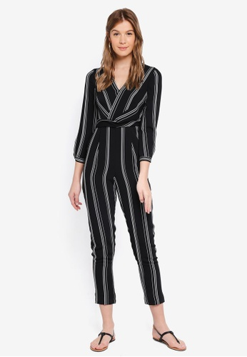 Forever New white Logan Twist Front Stripe Jumpsuit 110C5AA3253004GS_1