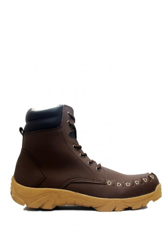 D-Island brown D-Island Shoes Boots Style Mens Leather Dark Brown DI594SH0VXQCID_1