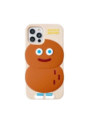 Kings Collection white Cartoon Peanut Man iPhone 12 Case C47B5AC58DE9D1GS_1