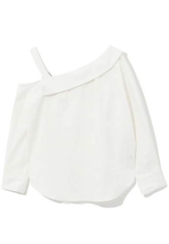 izzue white Off shoulder blouse 895A3AAE59831FGS_1