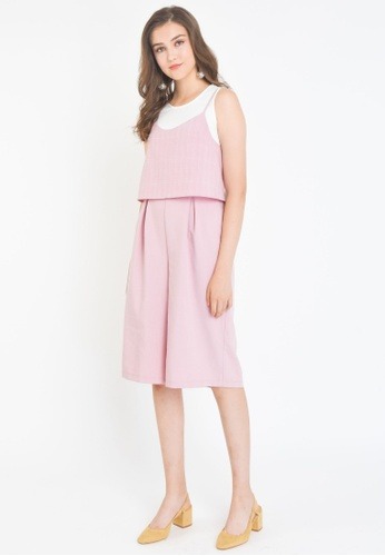 L'zzie pink LZZIE BRIGANTE TWO-PCS JUMPSUIT - PINK CHECKED 90909AAAF4F537GS_1