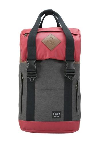 G.ride black and red Arthur Backpack GR478AC0GKT5SG_1