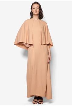 Half Cape Dress