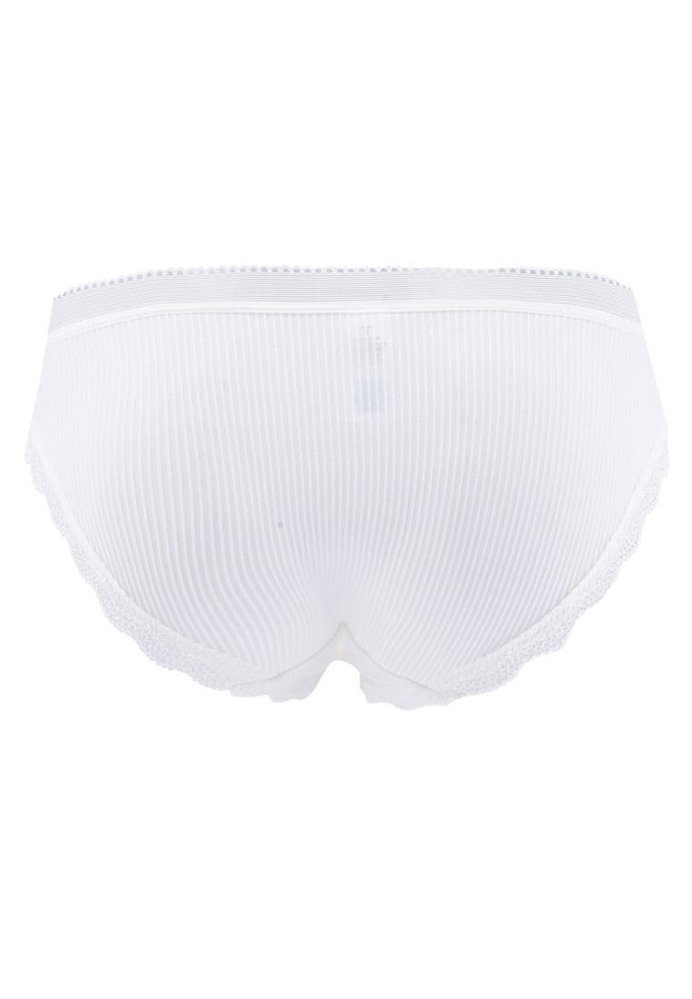 6IXTY8IGHT Lace Bikini Micro Briefs Trim White qqr0d4