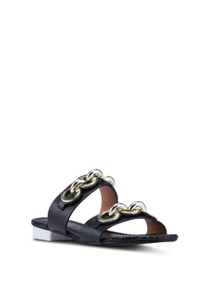 c36ba36b0365 53% OFF River Island Faye Circle Chain Mules Php 4,099.00 NOW Php 1,909.00  Sizes 4 5 7 8