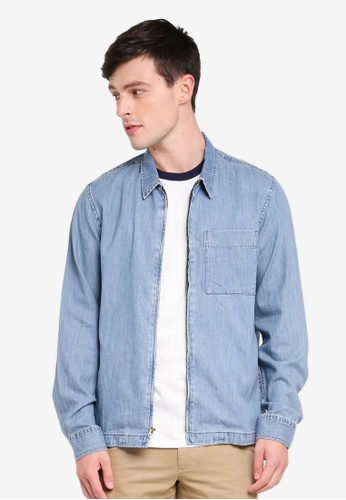 J.Crew 海軍藍色 Lightweight Denim Overshirt 34145AACF9B999GS_1