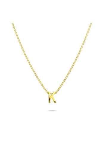 Bullion Gold gold BULLION GOLD Initials Brick Alphabet Letter Necklace Gold Layered Steel Jewellery  - K 96E20ACBFC51CCGS_1