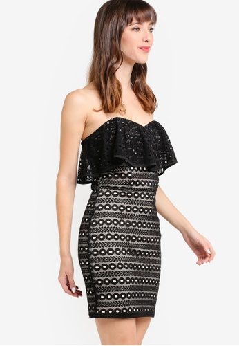 Miss Selfridge black Black Lace Band Mini Dress MI665AA27HEQMY_1