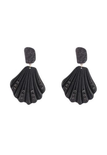 MANGO black Shell Earrings 958DEAC9193EECGS_1