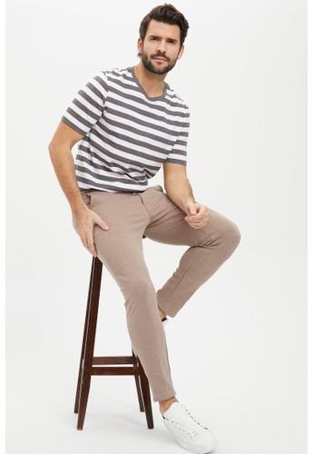 DeFacto grey Man Knitted T-Shirt CA03AAAADB834EGS_1