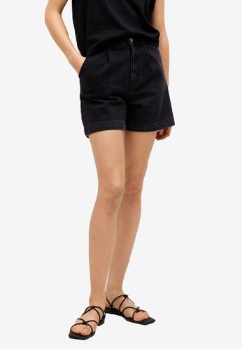 Mango grey Slouchy Shorts 535F8AA21C5E3AGS_1