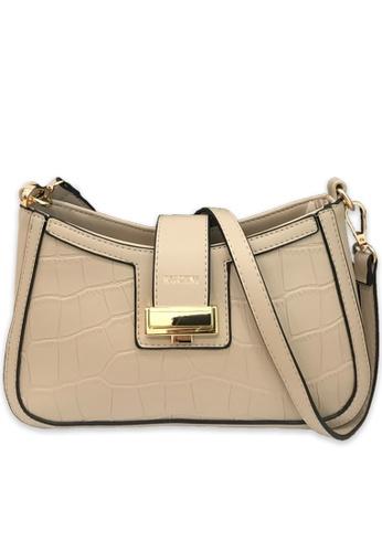 RUCINI beige Rucini Textured Leather Satchel Beige E2DD1AC1CCC18EGS_1