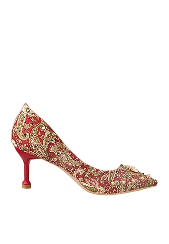 Twenty Eight Shoes red 7cm Printed Rhinestone Evening and Bridal Shoes VP162 3811BSH10E1D49GS_1