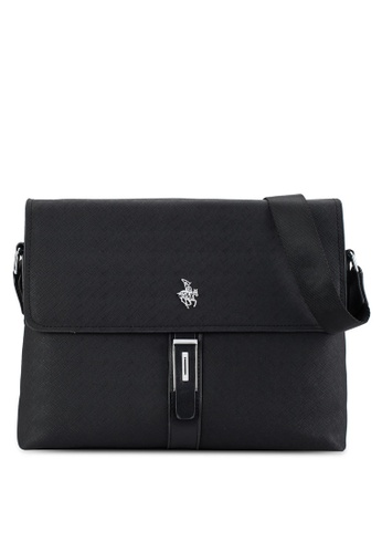 Swiss Polo black Swiss Polo Sling Bag SW912AC80DRFMY_1