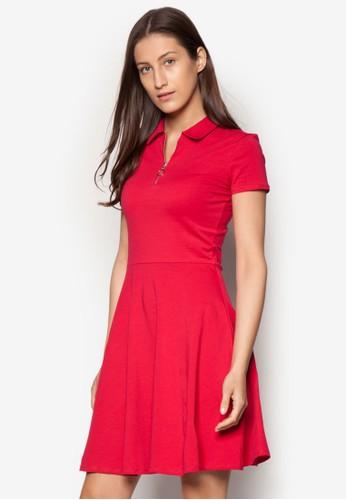 標準領修身esprit台灣傘狀洋裝, 服飾, 洋裝
