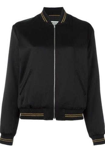 Saint Laurent black Saint Laurent Zip On Jacket in Black 4C96CAA4B328C6GS_1