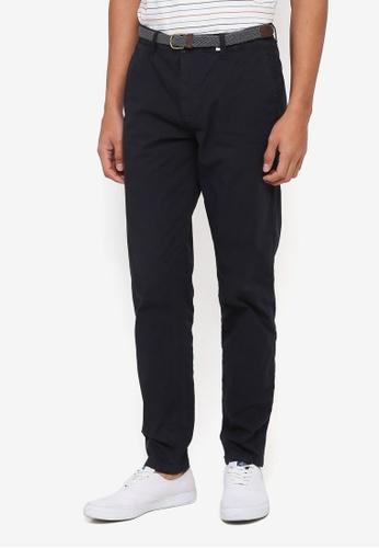 ESPRIT 海軍藍色 Woven Regular Pants 39401AA5F11D02GS_1