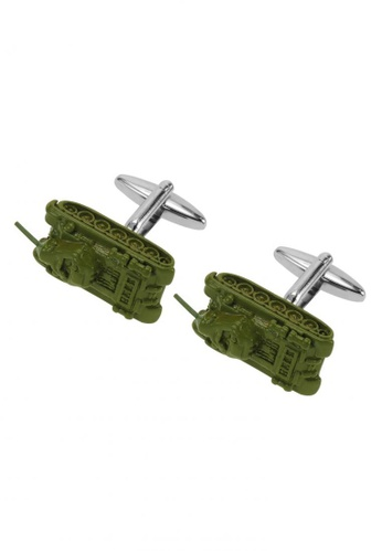 CUFF IT green Olive Green Army Tank Mod Cufflinks CU047AC47EUQHK_1