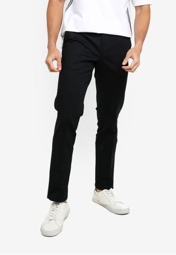 ck CALVIN KLEIN black STRETCH PANTS WITH JACQUARD LOGO 22AF8AAC6662C6GS_1