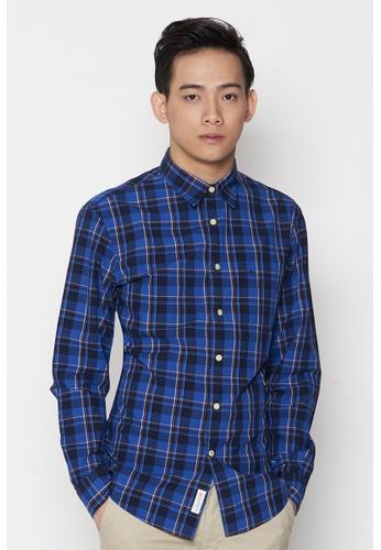 Dockers blue Dockers Long Sleeve Laundered Poplin Shirt Eduardo - True Blue DO282AA96QCXSG_1