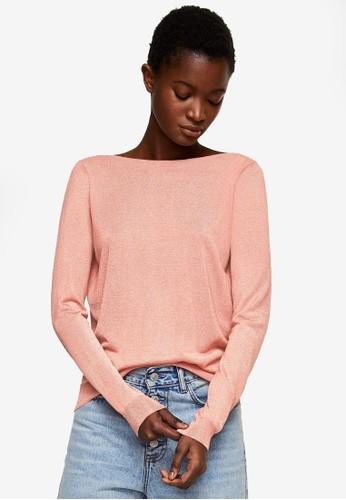 MANGO pink Back Vent Sweater 2E62CAA42DA66DGS_1