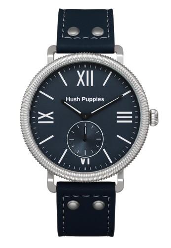 Hush Puppies Watches blue Hush Puppies Est. 1958 Men's Watch HP 3853M.2503 Silver Dark Blue Leather HU342AC90TVTID_1