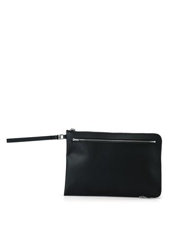 Calvin Klein black J Zip Medium Pouch - Calvin Klein Jeans Accessories 0E363AC497067BGS_1