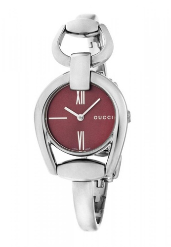 d46b6bd94c3 Gucci red and silver GUCCI Horsebit Collection Red Dial Stainless Steel  Ladies Watch E8528AC1C51427GS 1