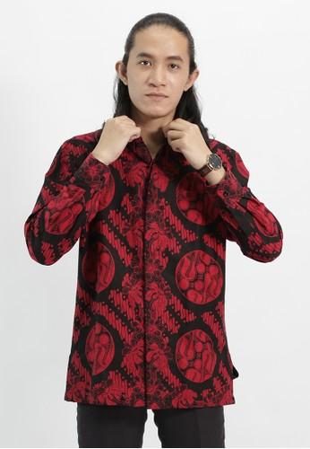 House of Kain red Kemeja Batik Katun Merah 95030AACA086D2GS_1