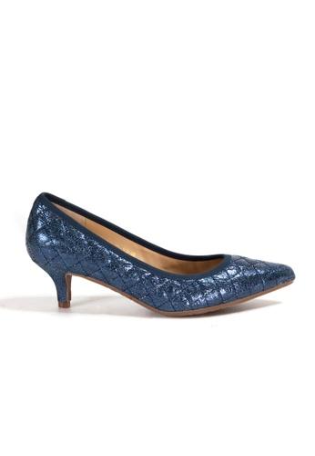 Shu Talk blue Stylish Chic Metallic Diamond Quilted Heels CC91DSHF7102E4GS_1