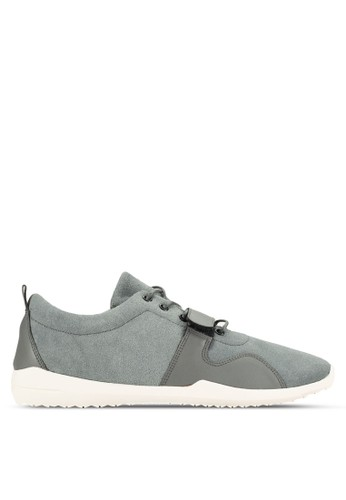 24:01 grey Mix Materials Sneakers 4640DSH8E01207GS_1