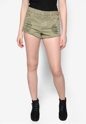 Lovebound 抽象短褲zalora 台灣門市, 服飾, 短褲