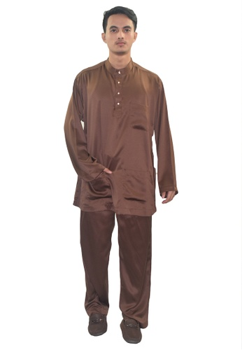 Denai Boutique brown Baju Melayu Zeid 875A4AA3CA10D4GS_1