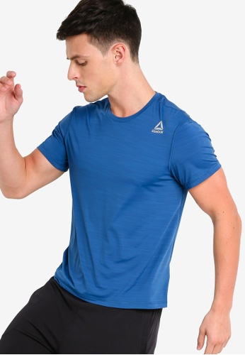bfc3a4d3602caf Reebok blue Running Foundation Run Short Sleeve AC Tee CB2A4AA2C4A8D1GS 1
