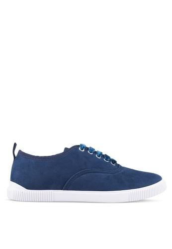 ZALORA blue Grosgrain Binding Sneakers C0E66SH5823205GS_1