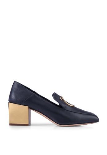 Ferragamo black Mirror Heel Mocassin Heels (zt) 186D8SHBBAAB18GS_1