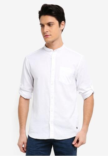 ESPRIT white Woven Long Sleeve Shirt 3E55FAA778458AGS_1