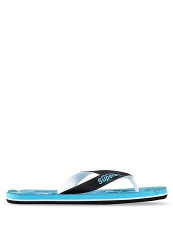 Superdry blue Scuba Grit Flip Flops 947B4SHC50293FGS_1