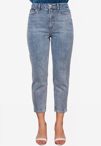 Trendyol blue Petite High Waist Mom Jeans 31141AAF911AE8GS_1