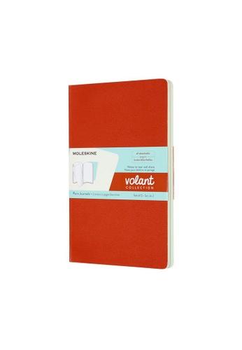 Moleskine multi Volant Journals Plain Soft Orange Large FF70FHLF3A7E8CGS_1