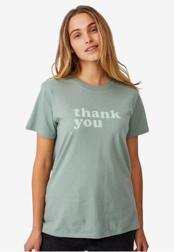 Cotton On green Classic Slogan T-Shirt F7E56AA85B944DGS_1